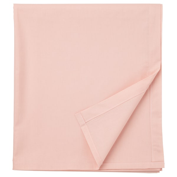 DVALA sheet light pink 152 /inch² 260 cm 150 cm