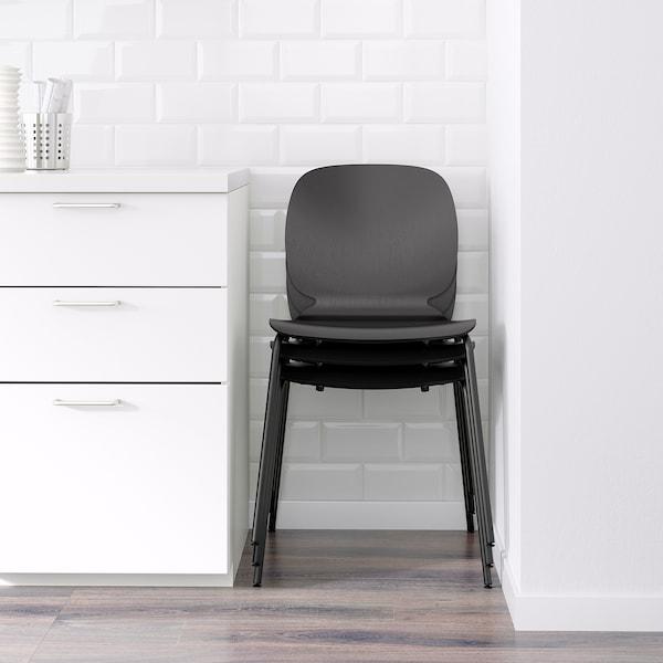 EKEDALEN / SVENBERTIL Table and 4 chairs, oak/black, 120/180 cm