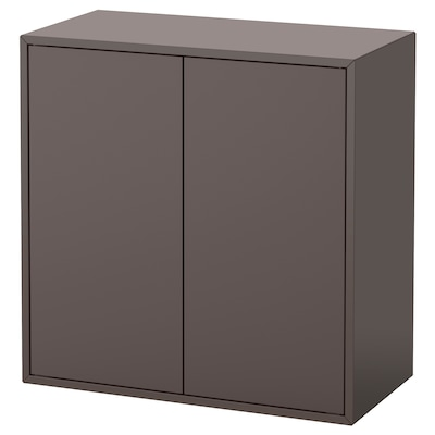 EKET Cabinet w 2 doors and 1 shelf, dark grey, 70x35x70 cm