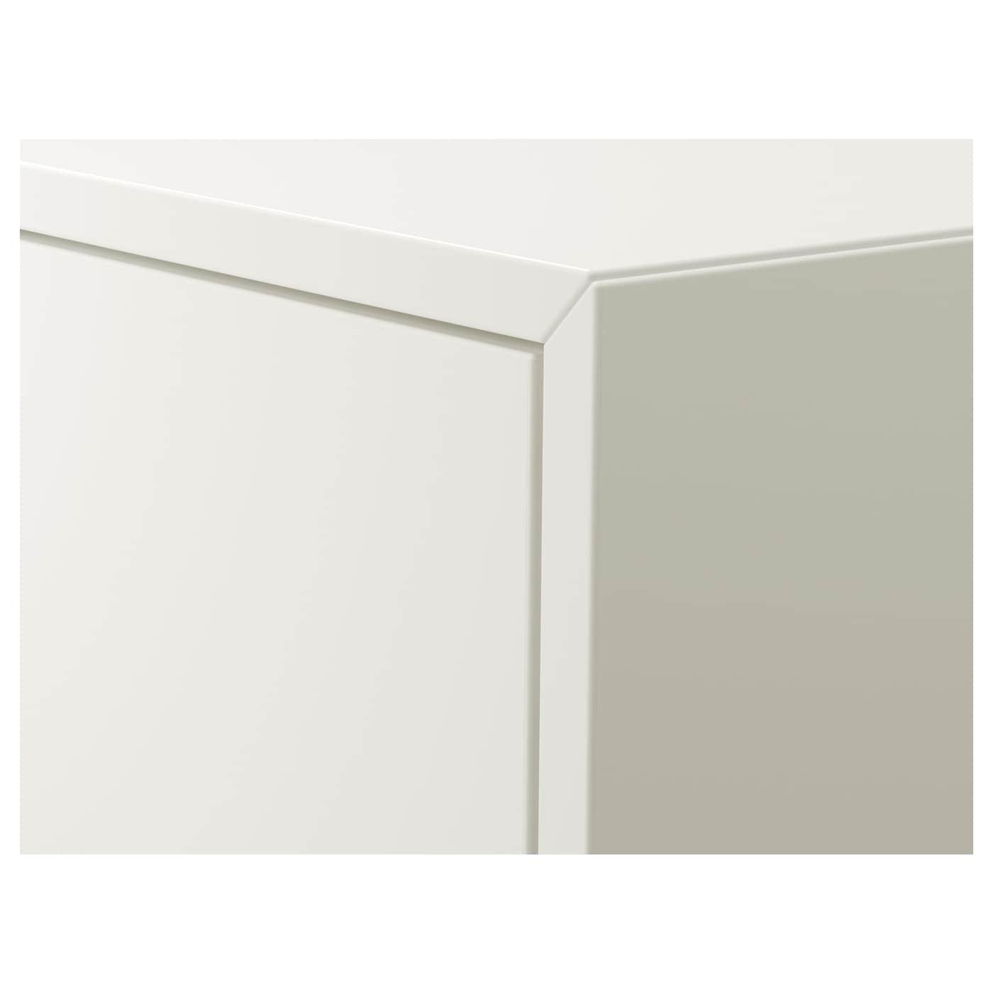EKET Cabinet w door and 2 shelves, white, 35x25x70 cm