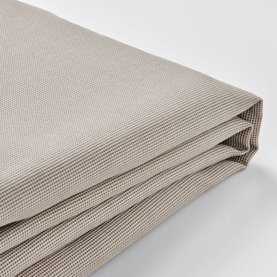 EKTORP Cover for footstool, Totebo light beige