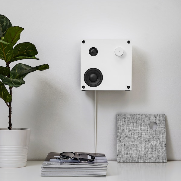 ENEBY Bluetooth speaker, white, 20x20 cm