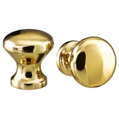 ENERYDA knob brass-colour 21 mm 20 mm 5 mm 2 pack