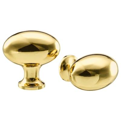 ENERYDA knob brass-colour 35 mm 35 mm 5 mm 2 pack