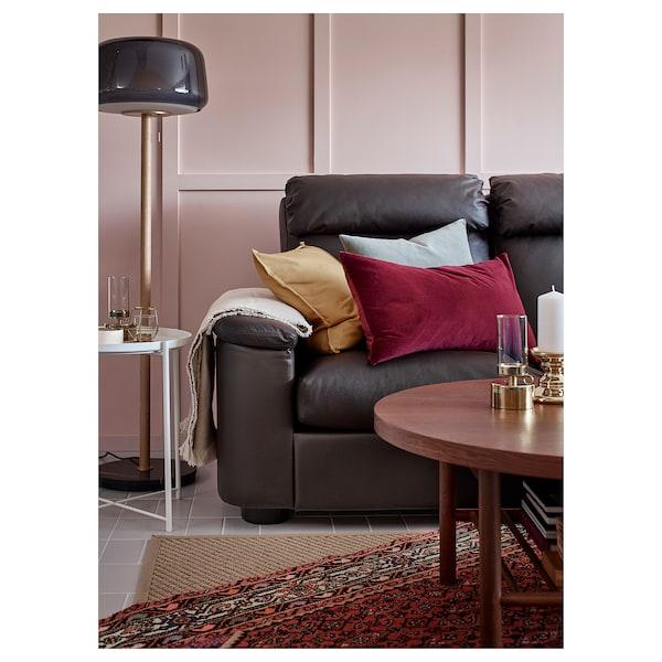 EVEDAL Floor lamp, marble/grey
