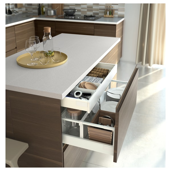 EXCEPTIONELL Drawer, medium with push to open, white, 80x37 cm