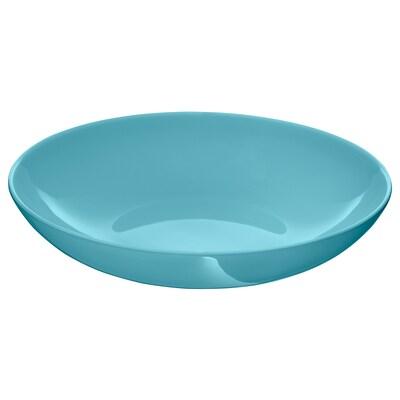 FÄRGRIK Deep plate, turquoise, 24 cm