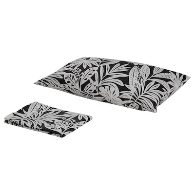 FAGERGINST flat sheet and pillowcase grey/white 152 /inch² 1 pack 50 cm 80 cm 150 cm 260 cm
