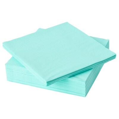 FANTASTISK paper napkin light turquoise 40 cm 40 cm 50 pack
