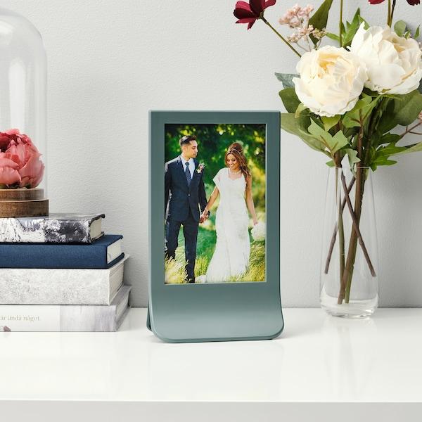 FIESTAD Frame, turquoise, 10x15 cm