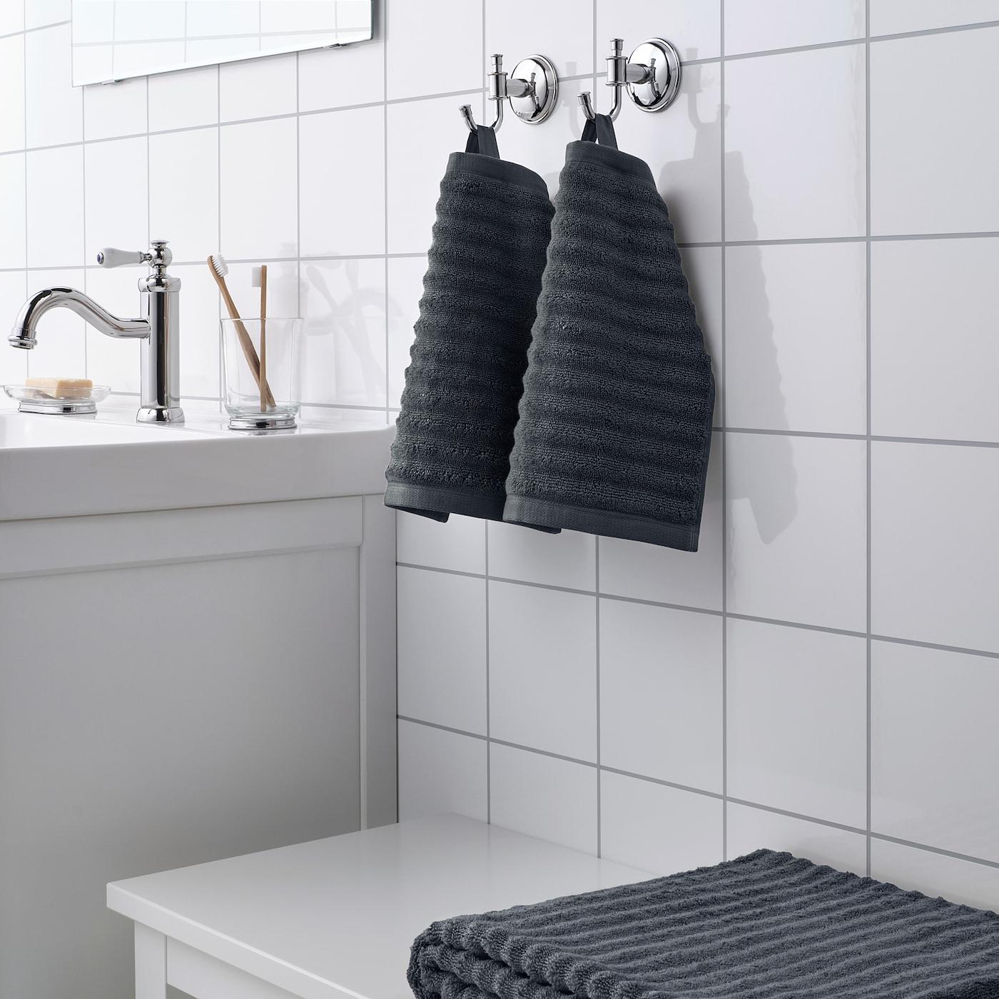 """FLODALEN Washcloth - dark grey 30x30 cm (12x12 """")"""