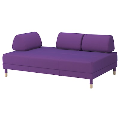 FLOTTEBO Sofa-bed, Vissle purple, 120 cm