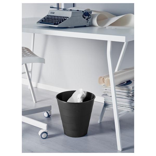 FNISS Waste bin, black, 10 l