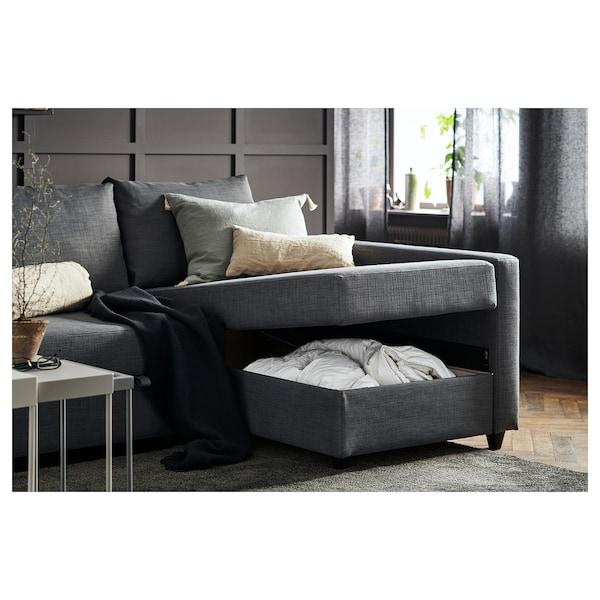 FRIHETEN corner sofa-bed with storage Skiftebo dark grey 230 cm 151 cm 66 cm 140 cm 204 cm