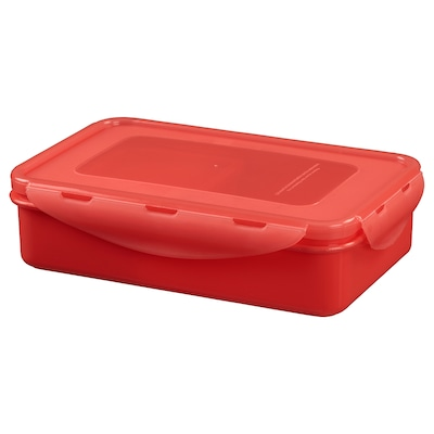FULLASTAD Lunch box, red, 20x13x5 cm