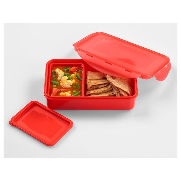 FULLASTAD Lunch box, red, 20x13x5 cm