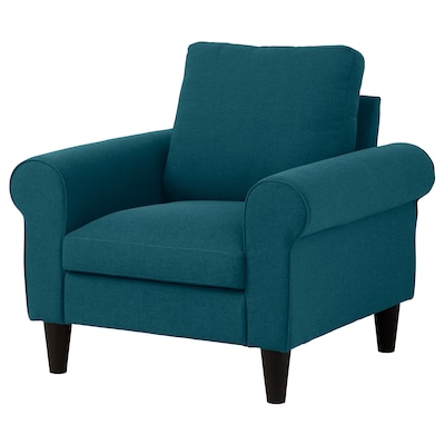 GAMMALBYN Armchair, blue/green