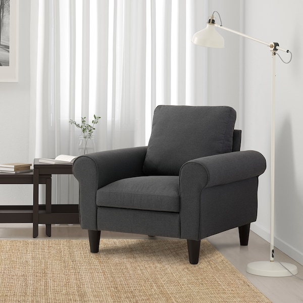 GAMMALBYN Armchair, grey