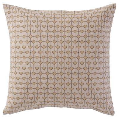 GRENDUNÖRT Cushion cover, brown, 50x50 cm