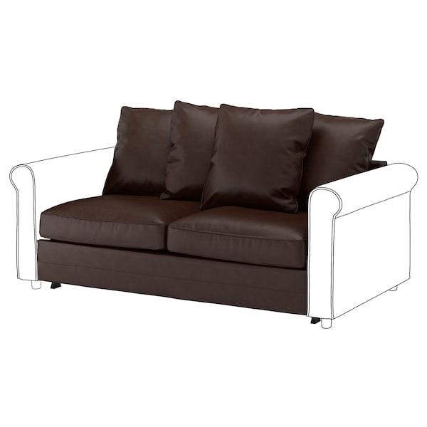 GRÖNLID 2-seat sofa-bed section, Kimstad dark brown