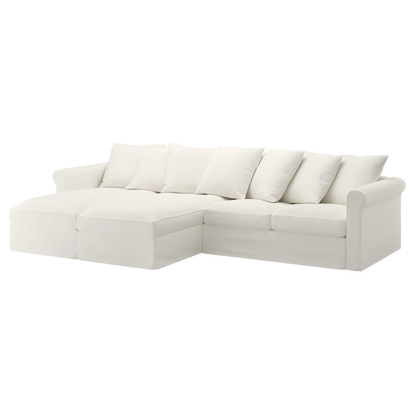 GRÖNLID 4-seat sofa, with chaise longues/Inseros white