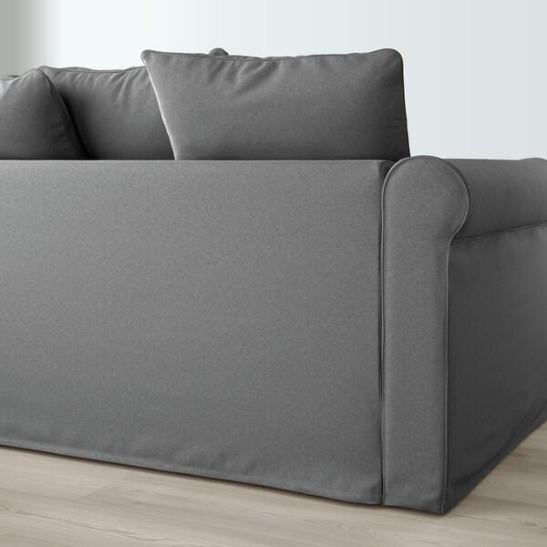 GRÖNLID 4-seat sofa, with chaise longues/Ljungen medium grey