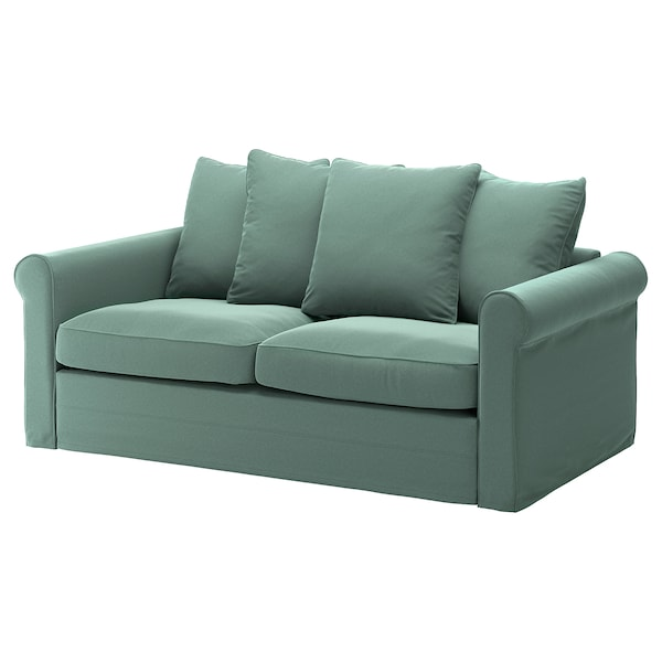 GRÖNLID Cover for 2-seat sofa-bed, Ljungen light green