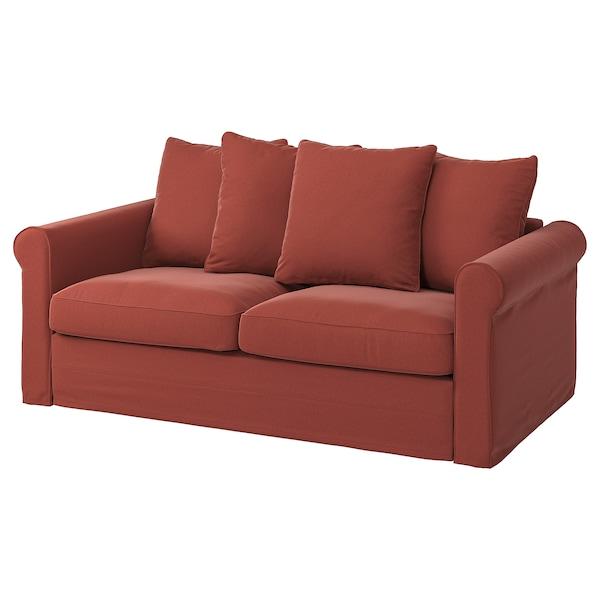 GRÖNLID Cover for 2-seat sofa-bed, Ljungen light red