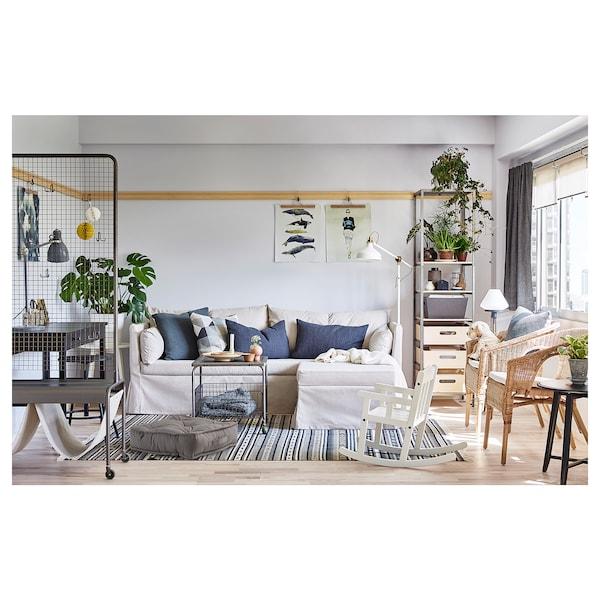 GURLI Floor cushion, grey, 45x45x10 cm