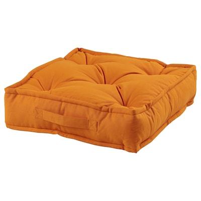 GURLI Floor cushion, orange, 45x45x10 cm