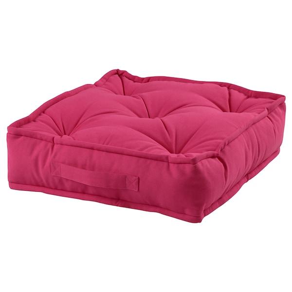 GURLI Floor cushion, pink, 45x45x10 cm