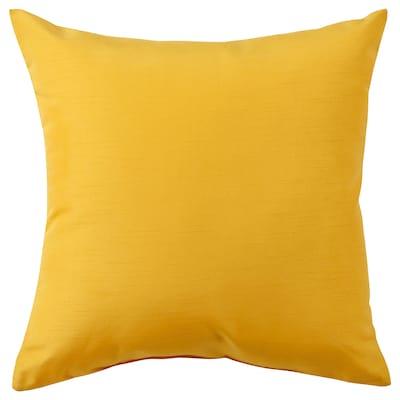 HÄCKSPIREA Cushion, yellow, 40x40 cm