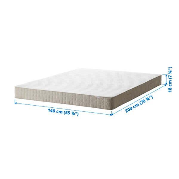 HAFSLO Sprung mattress, medium firm/beige, 140x200 cm