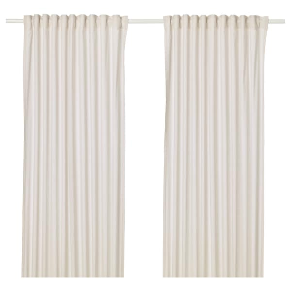 HANNALILL Curtains, 1 pair, beige, 145x300 cm