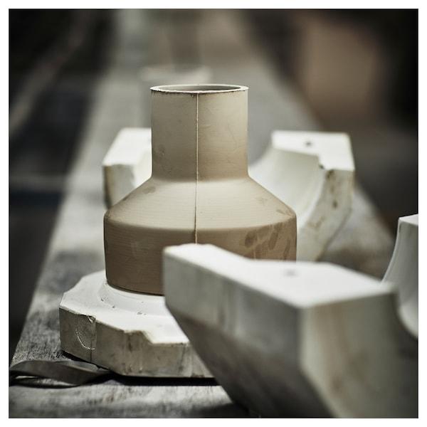 HANTVERK vase handmade off-white 15 cm 7 cm