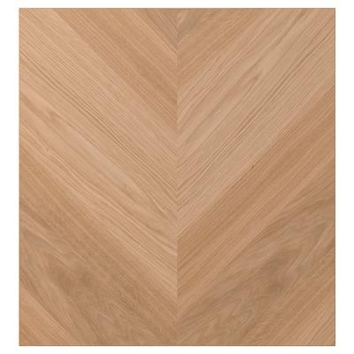 HEDEVIKEN Door, oak veneer, 60x64 cm