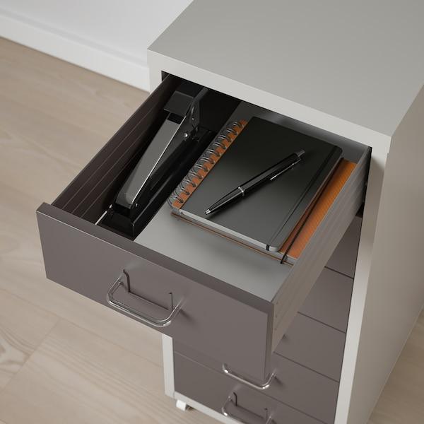HELMER Drawer unit on castors, dark grey/light grey, 28x69 cm