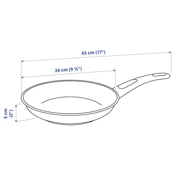 HEMLAGAD Frying pan, black, 24 cm