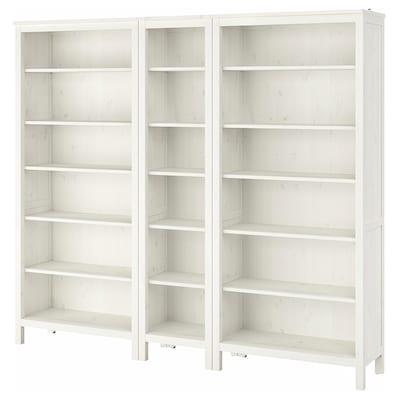 HEMNES Bookcase, white stain, 229x198 cm