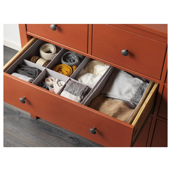 HEMNES Chest of 8 drawers, red-brown, 160x96 cm