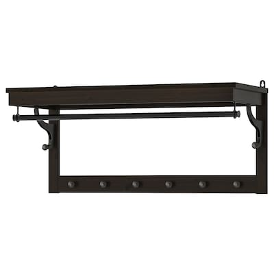 HEMNES Hat rack, black-brown, 85 cm