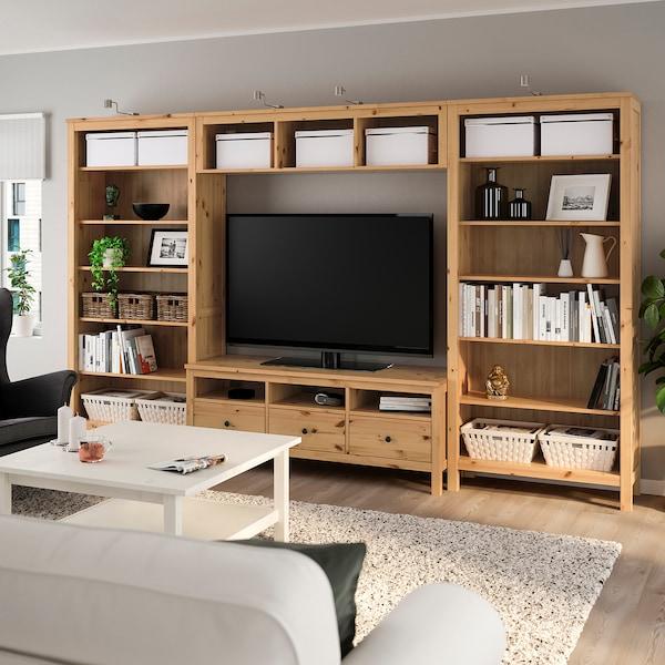 Hemnes Tv Kast Ikea.Hemnes Tv Storage Combination Light Brown Ikea