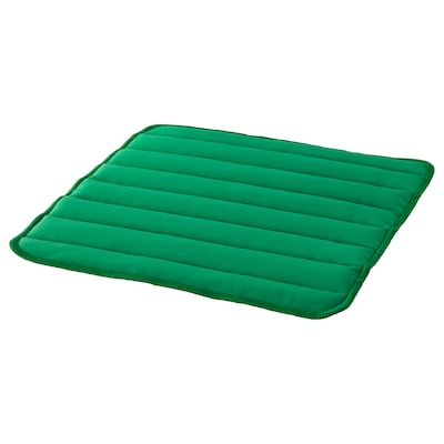 HERDIS Chair pad, bright green, 37x37x1.8 cm