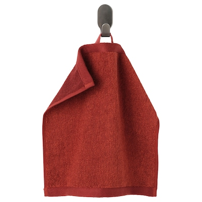 HIMLEÅN Washcloth, brown-red/mélange, 30x30 cm
