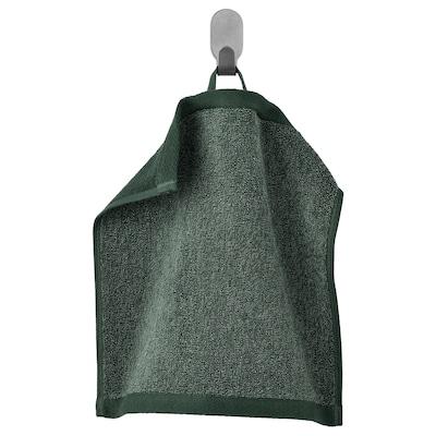 HIMLEÅN Washcloth, dark green/mélange, 30x30 cm