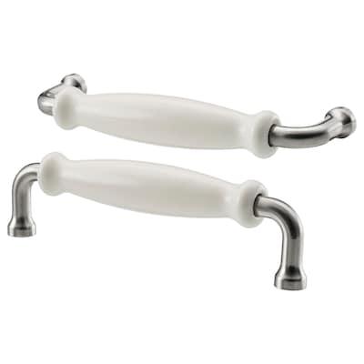 HISHULT handle porcelain white 140 mm 12 mm 32 mm 5 mm 128 mm 2 pack