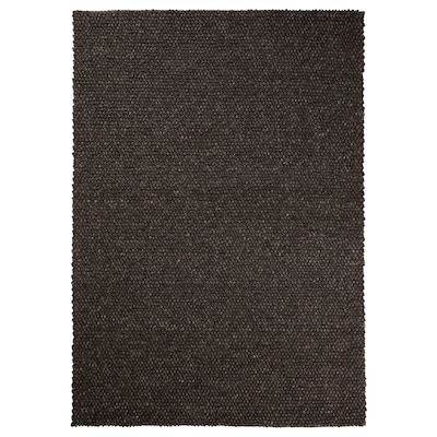 HJORTHEDE Rug, handmade/grey, 170x240 cm