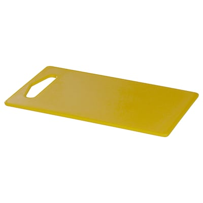 HOPPLÖS Chopping board, yellow, 24x15 cm