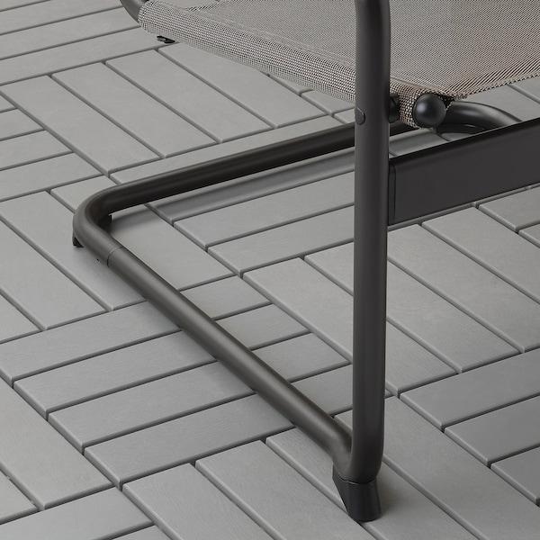 HUSARÖ Armchair, outdoor, dark grey