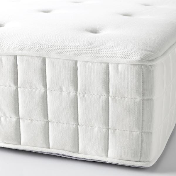 HYLLESTAD pocket sprung mattress firm/white 200 cm 90 cm 27 cm